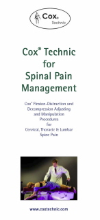 Cox Technic for Spinal Pain Management Patient Education Brochure